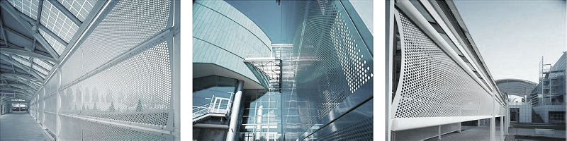 перфорированный лист в строительстве и архитектуре